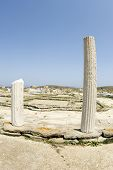 Agora Of Deliens Delos Greece
