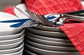 plates, cutlery & napkins