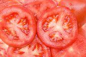 Tomaten - in Scheiben geschnitten frisch lecker saftig