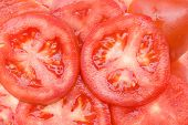 sliced tomatoes - fresh tasty juicy