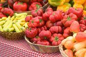 peppers at the market - narrow DOF