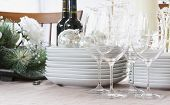christmas dinner table - white, bright, & modern