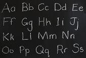 letters on a chalkboard