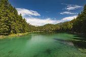 Green Lake Eibsee Near Garmisch, Germany poster