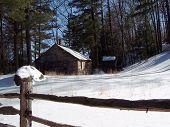 Rural Home In Winter