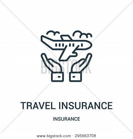 poster of Travel Insurance Icon Isolated On White Background From Insurance Collection. Travel Insurance Icon