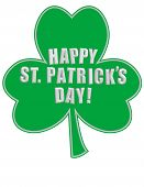 Happy St. Patrick's Day with Shamrock!