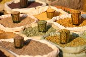 traditionelle Gewürze-Markt in Indien.
