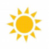 Halftone Vector Sun. Halftone Background. Sun Icon Vector. Sun Icon Eps. Sun Icon Jpg. Vector Illust poster