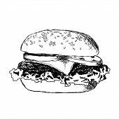 Gekritzel-hamburger