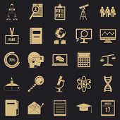 Business College Icons Set. Simple Set Of 25 Business College Icons For Web For Any Design poster