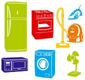 electric home devices (vector)