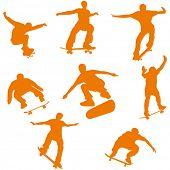 skateboard silhouette (vector)