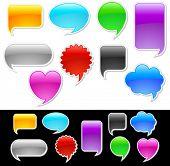 Set of glossy speech bubbles
