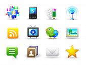 Set of universal media icons