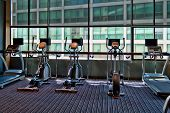Bicicleta estacionaria del gimnasio A