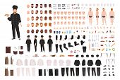 Chef, Cook, Culinary Worker, Kitchen Staff Diy Set Or Creation Kit. Collection Of Body Parts, Gestur poster