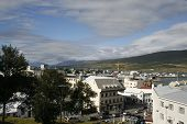 Small Town In Iceland