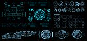 Hud Futuristic Virtual Graphic Touch User Interface, Target. Hud Dashboard Display poster