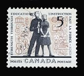 Canadian Postage Stamp On Education