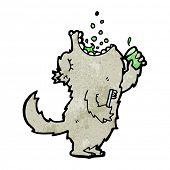 wolf gargling mouthwash