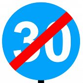 End of minimum speed limit traffic sign