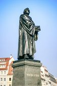 An image of the Martin Luther statue in Dresden Germany