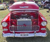 1955 Chevy Bel Air Red & White Front View