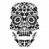 image of day dead skull  - day of the dead skull - JPG