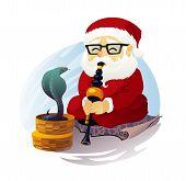 Snake Charmer Santa Claus