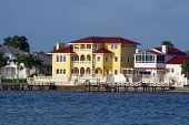 Yellow Waterfront Home.