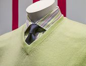 stock photo of v-neck collar  - Close - JPG