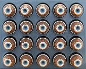 image of 9mm  - 9mm hollow point bullets as abackgroung pattern - JPG