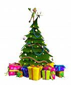 Elf em árvore de Natal
