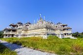 foto of jain  - FAMOUS Jain Temple in Ranakpur under blue sky, the holy place for the Jain