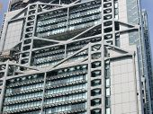stock photo of hsbc  - architecture exterior design of hsbc building in  hong kong - JPG