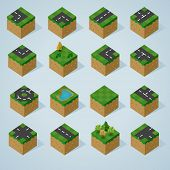 Pre Assembled Isometric world map