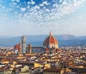 Cathedral Santa Maria del Fiore at sunrise. Florence, Italy