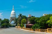 COLOMBO - APRIL 13: Panorama of Sambodhi chaithya Buddhist Temple on April 13, 2012 in Colombo, Sri