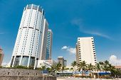 COLOMBO - APRIL 13: Panorama of World Trade Center and Bank of Ceylon on April 13, 2012 in Colombo,