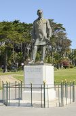 Statue Of Fausto Cardoso Figueiredo  In Estoril, Portugal