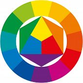 stock photo of pigments  - Color wheel  - JPG