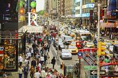 Rush Hour At Times Square In New York City
