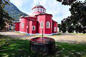 Greek Monastery on Mount Athos, Chalkidiki, Greece