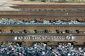 No Trespassing On Railroad Tracks