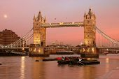 Pink Sky London Bridge poster