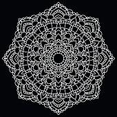 Round lace pattern. Mandala.