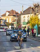 The Cyclist Nicolas Roche- Paris Nice 2013 Prologue In Houilles