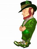 picture of saint patricks day  - 3 D Render of an Toon Leprechaun - JPG