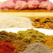 Lots Of Korma Ingredients